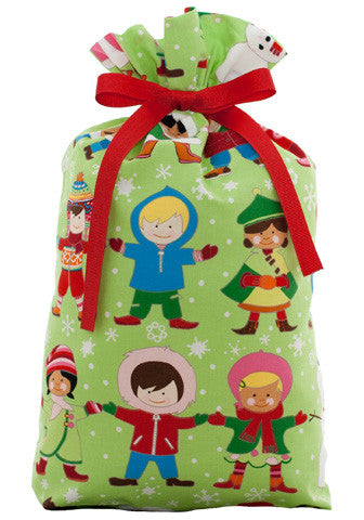 joy for the world cloth gift bag