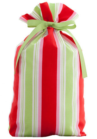 merry stripes cloth gift bag
