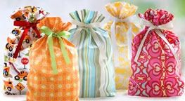 view our collection of fabric gift bags