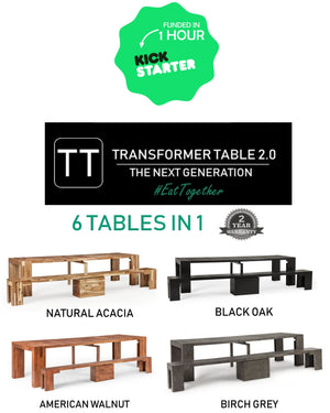 KICKSTARTER LAUNCH - TRANSFORMER TABLE 2.0 | 6 TABLES IN 1