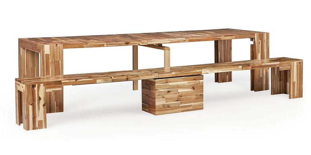 Transformer Table Extendable Table