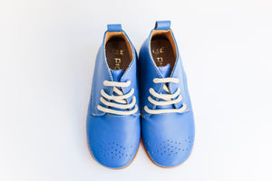 Blue Leather Boots - Handmade Lady's Blue Boots | Piccolo Shoes