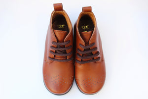 Brown Bark Leather Boots - Lady's Brown Boots | Piccolo Shoes