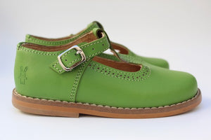 Cactus T-Strap Boots - Green Leather Boots For Women | Piccolo Shoes
