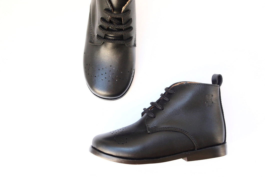 Midnight Leather Boots - Women's Black Leather Boots | Piccolo Shoes