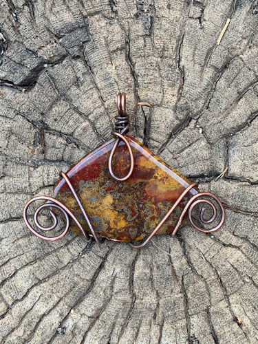 Agate with Pyrite in Copper