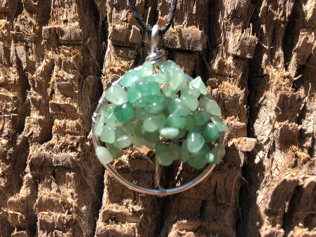 Tree of Life necklace - green, available now at SacredIvy.com