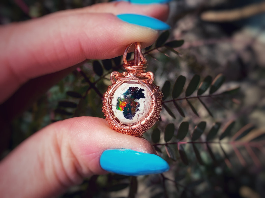 Mexican Fire Opal in Copper