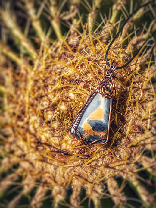 Painted Jasper in Copper