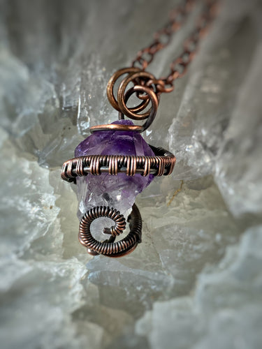 Mother's Day Special Small Amethyst wrapped in Copper