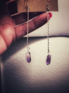 Vera Cruz Amethyst, Sterling Silver Earrings