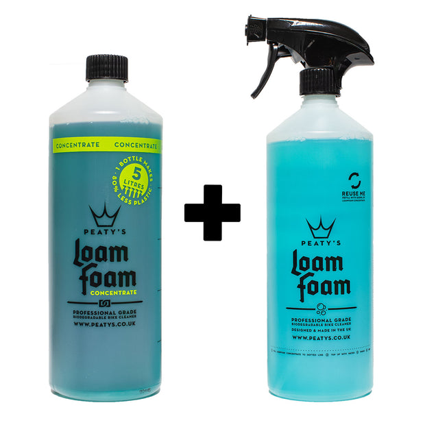 1L / 34oz Peaty's Loam Foam Concentrate Professional Grade Bike Cleaner + FREE 1L Loam Foam