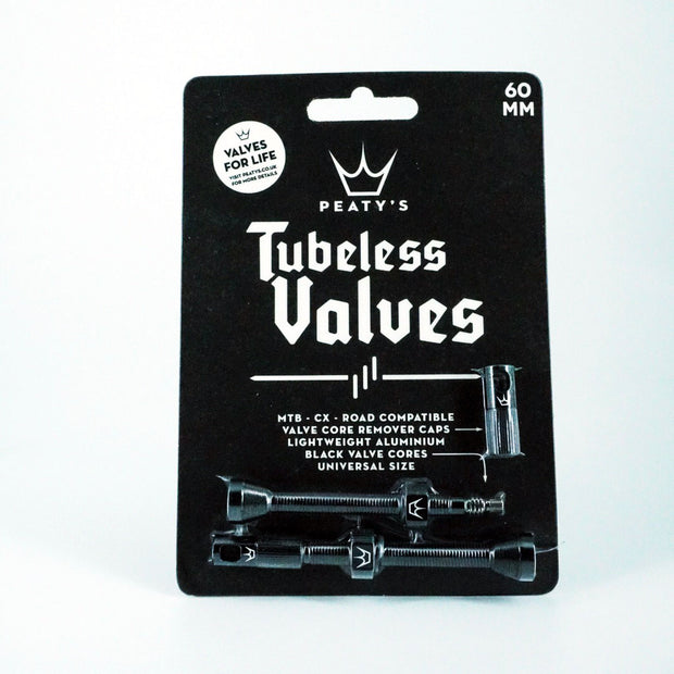 Peaty's Tubeless Valves (pair) - 60mm - Black