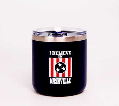 I Believe In Nashville Small Navy Tumbler - NashvilleTN Instagram