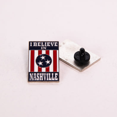 I Believe In Nashville Soft Enamel Pin - NashvilleTN Instagram