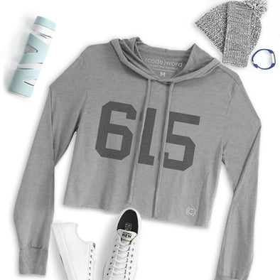 615 - Nashville - Crop Lightweight Hoodie - NashvilleTN Instagram