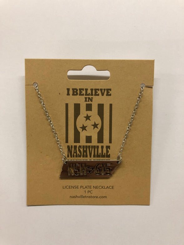 Nashville License Plate Necklace - NashvilleTN Instagram