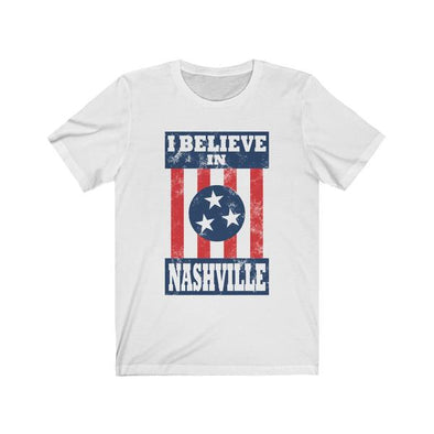 I Believe In Nashville - White Shirt - NashvilleTN Store