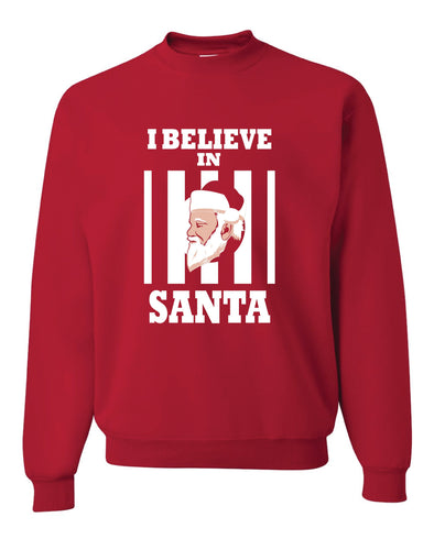 I Believe In Santa Adult Sweater - NashvilleTN Instagram