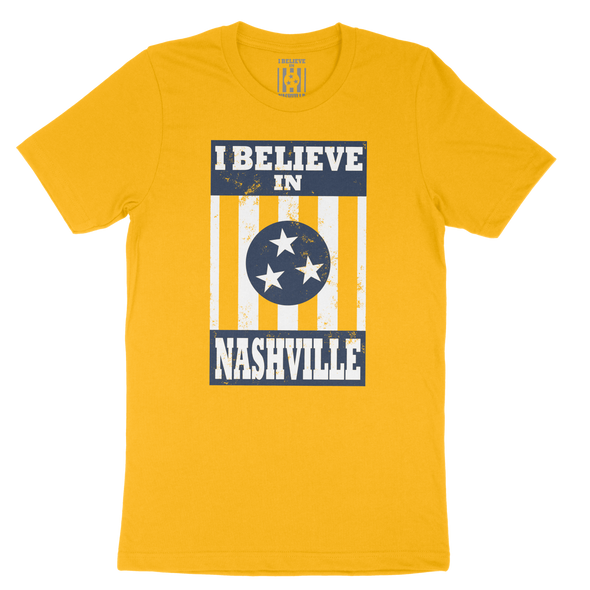 I Believe In Nashville Shirt - Navy and Gold Themed - NashvilleTN Instagram