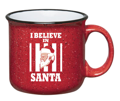 I Believe In Santa Ceramic Coffee Cup - NashvilleTN Instagram