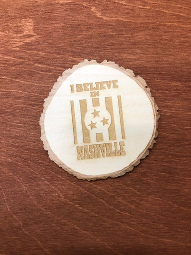 I Believe In Nashville Wooden Coaster - NashvilleTN Store