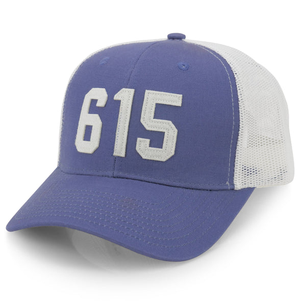 615 Blue / White Trucker Hat - NashvilleTN Instagram