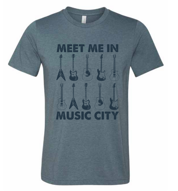 Meet Me In Music City T-Shirt - NashvilleTN Instagram