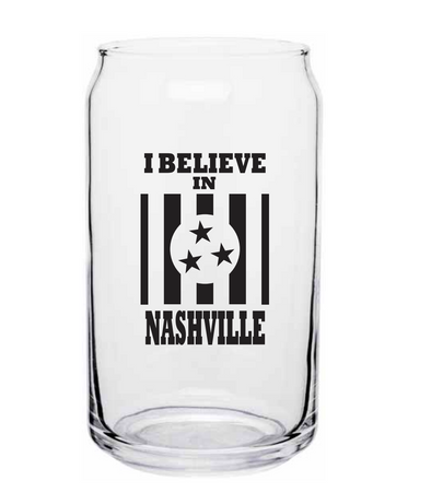 I Believe In Nashville Pint Glass - NashvilleTN Store