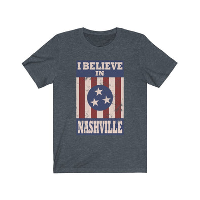 I Believe In Nashville - Heather Navy Shirt - NashvilleTN Store