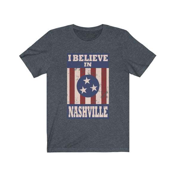 I Believe In Nashville - Heather Navy Shirt
