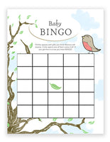 Baby Shower Bingo - Bird Theme Girl