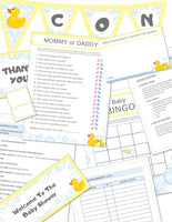 Printable Rubber Ducky Baby Shower Kit