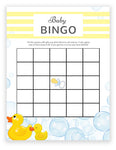 Baby Shower Bingo - Rubber Duck Theme