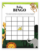 Baby Shower Bingo - Jungle Theme