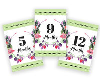 Baby Milestone Cards - Green Floral