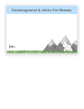 Baby Shower Advice Cards - Mountain Theme
