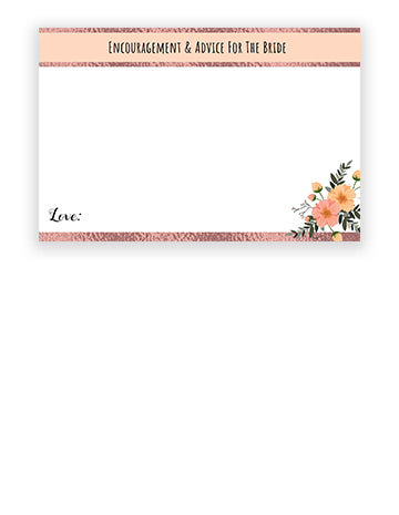 Encouragement & Advice Cards - Rose Gold/Floral Theme