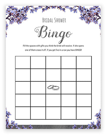 Bridal Shower Bingo - Slate Theme