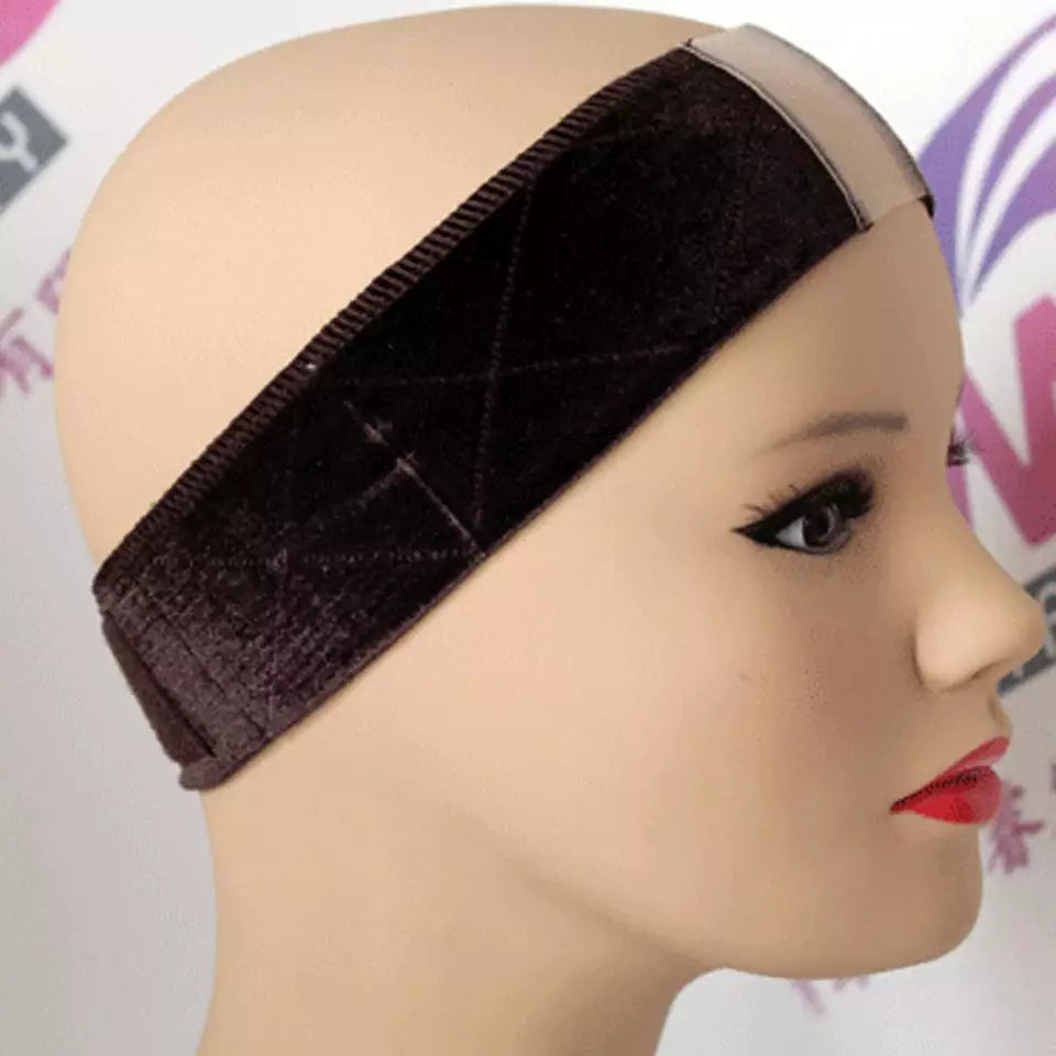 Wig Lace Parting Wig Grips Soft Velvet Adhesive Headband Adjustable Strap Fastener Elastic Band Wig Grip