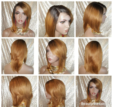 Straight Hair Wrap Style 100% Brazilian Virgin Remy Human Hair Lace Wig