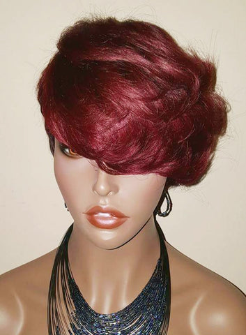 Celebrity Short Cut Style Remy Human Hair Wig