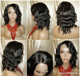 Deep Wave 100% Persian Remy Human Hair Lace Wig