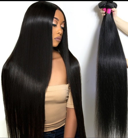Straight Virgin Remy Human Hair Extensions Bundles 4pcs/per lot 8-36 inches
