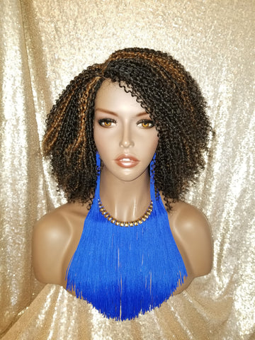 Kinky Twist Lace Part 4C Hair Premium Fiber Wig