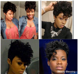 Fantasia Inspired Clipper Cut Remy Human Hair Wig