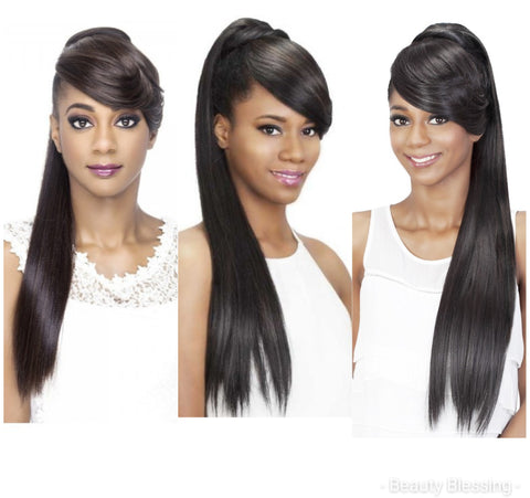 Two in One Hair Bang and Trendy High Ponytail Set