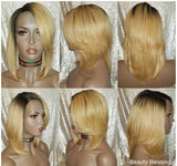 Layered Style Persian Remy Human Hair Fashion Lace  Wig