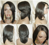 Wrap Style Layered Persian Remy 100% Human Hair Lace Wig
