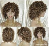 Brazilian Kinky Spiral Curl Short Style Human Hair Remy Wig